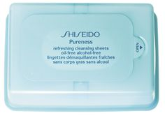 #Shiseido Pureness Refreshing Cleansing Sheets Oil-Free Alcohol-Free