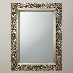 Buy John Lewis Ornate Leaf Wall Mirror, 122 x 91cm, Champagne Online at johnlewis.com