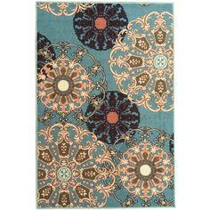 Ottomanson Ottohome Oriental Design Sage Blue Area Rug & Reviews | Wayfair.ca