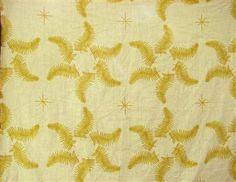 Fern Star in Yellow - Lauren Liess Designer Fabrics