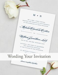 Delicate Peach Blossoms Wedding Invitation