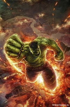 Avengers Digital Art    Hulk