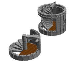 lego round tower hinge plates
