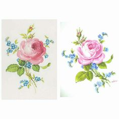 The card and the painted porcelain Meissen style Pablo
