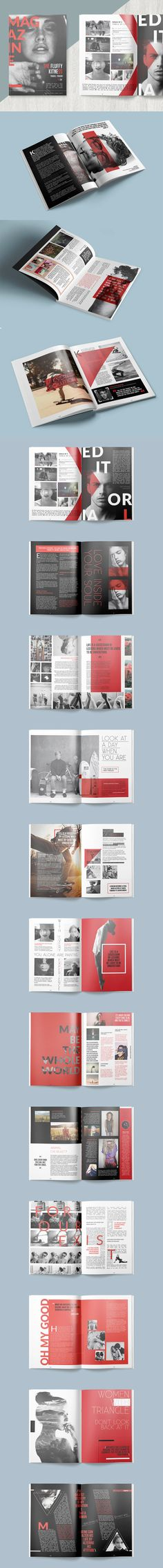 Magazine Template InDesign INDD - 30 Unique Pages