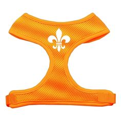 Mirage Pet Products Fleur de Lis Design Soft Mesh Dog Harnesses, X-Large, Orange => Hurry! Check out this great product : Leashes for dogs