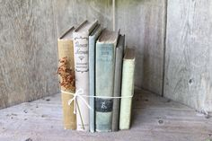 Assortment in muted hues, vintage boks by SomeOtherPrairie on Etsy