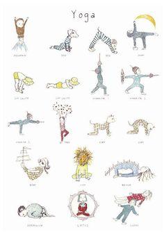 posturas yoga niuños