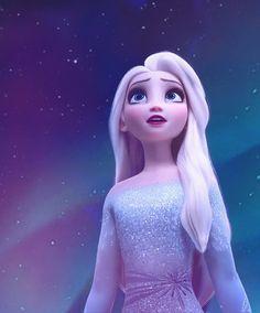 I love Elsa with her hair down! I love Elsa with her hair down! Disney Animation, Disney Pixar, Disney And Dreamworks, Disney Cartoons, Disney Art, Princesa Disney Frozen, Disney Frozen Elsa, Frozen Anime, Frozen Wallpaper