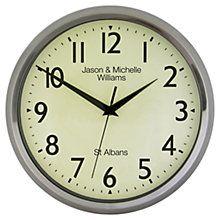 Buy Lascelles Personalised Chrome Case Clock, 30cm, Silver Online at johnlewis.com