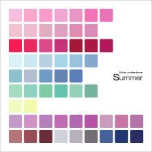 Summer color palette printed on fabric