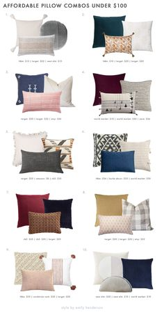 20 VERY Affordable Pillow Combos & Our 5 No-Fail Combo Rules - Emily Henderson #throwpillows #homedecor #interiors