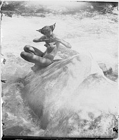The Water Nixie by Anne Brigman, 1914.  California Nature Nude Photography in the Sierra Nevada Mountains.