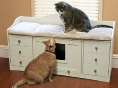 litter box cabinet bench