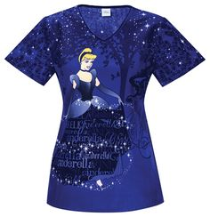 Scrub Identity - Cinderella's Sparkle Dreams Scrub Top For Women, $26.99 (http://www.scrubidentity.com/cinderellas-sparkle-dreams-scrub-top-for-women/)