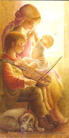 La Virgel , el Niño y el violinista - Ferrándiz - 1975