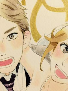 """""""I finally drew a welcome card for my little brother's wedding!"""" - Yamamori Mika"""