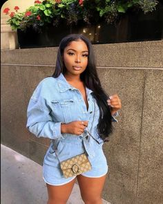 Trendy Outfits, Girl Outfits, Summer Outfits, Cute Outfits, Fashion Outfits, Black Girl Fashion, Fashion Looks, Mode Ootd, Mode Streetwear