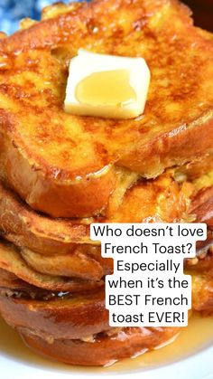 Breakfast Dishes, Breakfast Time, Breakfast Recipes, Brunch Recipes, Sweet Recipes, Waffles, Pancakes, Best French Toast, Decadent Food
