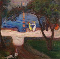 Edvard Munch Dance on the Beach 1899-1900 99 x 96 cm Oil on canvas Signed lower left: E Munch Národni Galerie, Prague