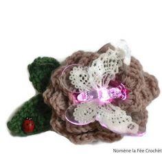 0a720ad99a8c Veilleuse petite lampe papillon, personnalisable gratuitement, fleur au  crochet, fait main