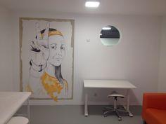 Gesundheitszentrum Storch& Beller | Freiburg Architektur und Konzept Ingrid Maria Buron de Preser Wandzeichnungen Gaby Roter