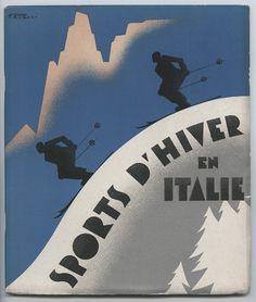 vintage ski poster - Italie 1936