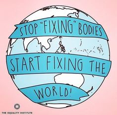 """""""And you don't have to change a thing, the world should change it's heart ... you're beautiful"""" #allbodiesarevalid"""