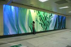 Train Station R4 Airport Kaohsiung Taiwan   - DERIX GLASSTUDIOS Taunusstein