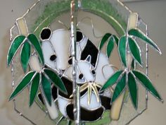 Stained glass whirl - Pandas