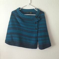 Adorable teal and navy shrug! 👛 Fits nicely one size fits all Sweaters Shrugs & Ponchos