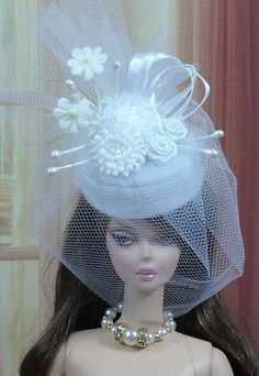 Chapeau N107 bibi pour poupée Barbie Fashion Royalty Silkstone Poppy Parker Muse