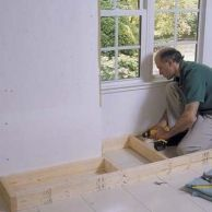 making a window seat from stock kitchen cabinets - This Old House