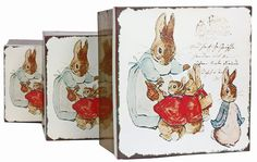 Plechove krabicky se zajickem - sada 3 ks. Cena: 459 Kc