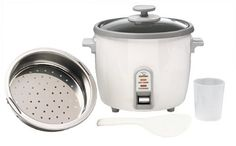 Zojirushi NHS-10 6-Cup (Uncooked) Rice Cooker/Steamer & Warmer, White // http://cookersreview.us/product/zojirushi-nhs-10-6-cup-uncooked-rice-cookersteamer-warmer-white/  #cooker #pressure #electric