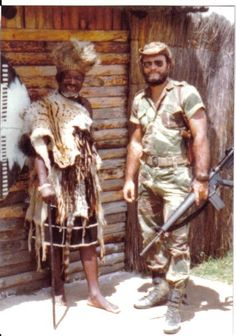 Rhodesian Security Forces with acquired M16A1.