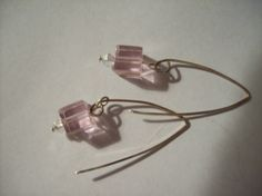 I think you will love these because they are so simple and elegant. You can wear them with anything in your wardrobe and they are so light and comfortable. I also have a necklace in the works to accompany these earrings.  I made them with pink crystals and clear crystals with sterling silver and they measure just shy of 2 inches. The wires are hand formed.  All the items you see here are handmade by me and are one of a kind. I might make another of an item but it will not be identical…