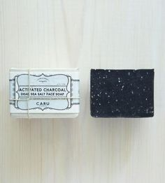 Activated Charcoal & Dead Sea Salt Face Soap - Pack of 2 by Caru Skincare Co. on Scoutmob Shoppe