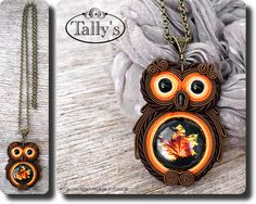 owl soutache (sutasz) So in love of this / Enamorada de esto #Bijou #Handmade #Beautiful