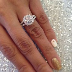 Bling finger! Oh TACORI. The only ring in the room. (Petite Crescent Collection)