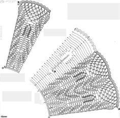 Delicadezas en crochet Gabriela: Falda evasé diseño hojitas en ganchillo