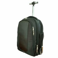 9f55ed3617 Wheeled Backpack Bag Black Freewheel Rolling Carry-on Mens Womens School  Travel - Travel Backpack