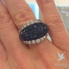 Be the center of attraction take a look at this ring via Dubai Fashion, Diamond Bands, Shades Of Blue, Beautiful Rings, Fine Jewelry, Jewellery, Class Ring, Jewelry Design, White Gold