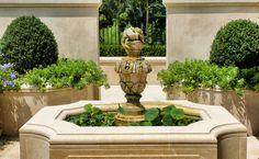 Formal garden with tiny pond -- Howard Design Studio, LLC -- Landscape Architecture