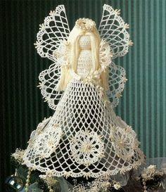 X653 Crochet PATTERN ONLY Christmas Seasonal Spirit Angel Tree Topper