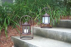 Solar Lantern Clear and Frosted Glass Arch Stand
