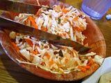 Curtido in El Salvador Cuisine.  curtido.  a pickled cabbage slaw.