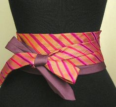 sash belt made from men's neckties