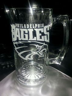 Etched Philadelphia Eagles Beer Mug | eBay