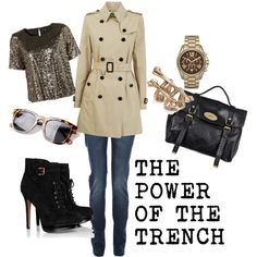 THE POWER OF THE TRENCH by georgina2907 on Polyvore